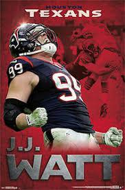 Jj Watt Roar Houston Texans Nfl Football Action Wall Poster Ebay