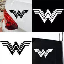 Vova Fashion Car Wonder Woman Movie Logo Reflective Car Vehicle Body Window Decals Sticker Decor
