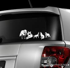 Wolf Pack Car Decal Wolves Laptop Decal Stick Family Decal Etsy