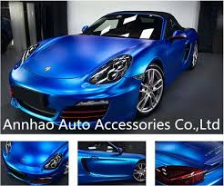 China Car Decal Sticker Matte Chrome Accessories Blue Car Wrap Vinyl China Matte Chrome Vinyl Car Wrap