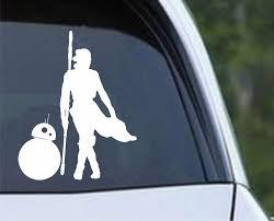 Star Wars Rey And Bb8 Silhouette Die Cut Vinyl Decal Sticker Decals City