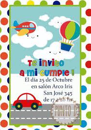 Invitacion Autitos Infantiles Cumpleanos Imprimible O Wsp 250
