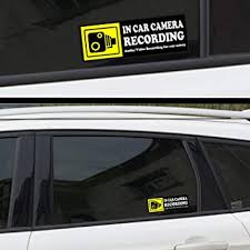 Amazon Com Camera Audio Video Recording Window Cars Stickers 4 Signs Removable Reusable Indoor Dashcam In Use Vehicles Warning Decals Labels Bumpers Static Cling Accessories For Rideshare Taxi Drivers Yellow Arts Crafts