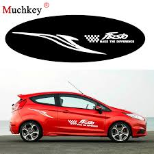 For Ford Fiesta Car Side Body Decal Word Stickers Hatchback Decals Custom Car Decals Diy Decoration Stickers Auto Part 180cm Car Stickers Aliexpress