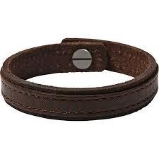 fossil leather bracelets alert bracelet