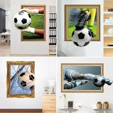 3d Soccer Ball Football Decorative Vinyl Wall Sticker Decals For Living Room Kids Boys Bedroom Decoration Free Shipping Dealextreme