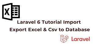 laravel 7 6 import export excel csv to