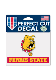 Ferris State Bulldogs 4 5x5 75 Perfect Cut Auto Decal Red 5712494