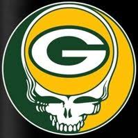 3 Green Bay Packers Grateful Dead Vinyl Stickers 3x3