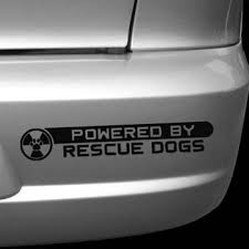 Powered By Rescue Dogs Decal Sew Dog Crazy