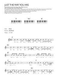 Bruno Mars - Just The Way You Are atStanton's Sheet Music