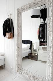 tall mirror large white chunky frame