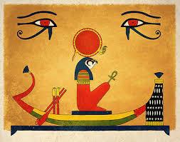 ancient egyptian art print sun ra