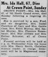 Obituary for Ida Hall (Aged 67) - Newspapers.com