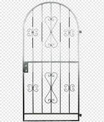 Gate Hot Dip Galvanization Garden Wrought Iron Gate Angle Furniture Fence Png Pngwing