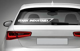 Stark Industries Iron Man Vinyl Decal For Car Laptop Macbook Etsy