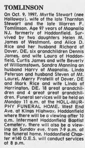 Myrtle Holloway Stewart Tomlinson Obituary - Newspapers.com