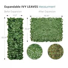 Garden Decors Depot Ecoopts Artificial Ivy Leaf Expandable Stretchable Privacy Fence Screen Single Side Leaves And Vine Decoration For Outdoor Garden Yard 1 Pack Faux Ivy