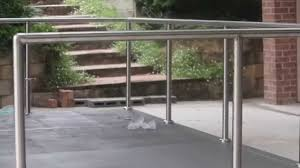 How To Install Diy Stainless Steel Posts And Handrails Youtube
