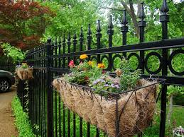 Christine S Home And Travel Adventures Fragrance In The Garden Backyard Fence Decor Fence Planters Backyard Fences