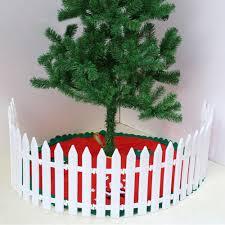 25x White Plastic Picket Fence Miniature Garden Christmas Xmas Tree Decoration Ebay
