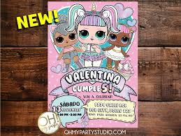 Lol Surprise Invitacion Digital Oh My Party Studio