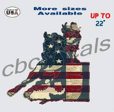 American Flag Cowgirl Decal Sticker Rodeo Car Truck Window Decals Bull Riding Country Boy Customs Store