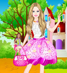 barbie princess charm dress up