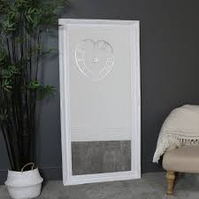 extra large white wall floor mirror
