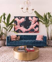 the gold round coffee table 12