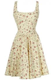 shabby chic fl fit and flare cotton