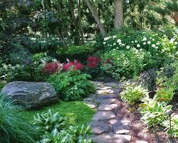 shady garden landscape design