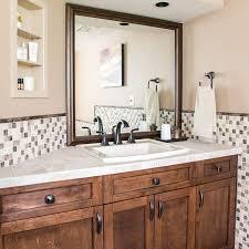 how to frame a basic bathroom mirror