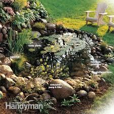 interior ideas garden waterfalls ideas