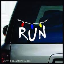 Run With Strand Of Lights Stranger Things Fan Art Vinyl Decal Decal Drama
