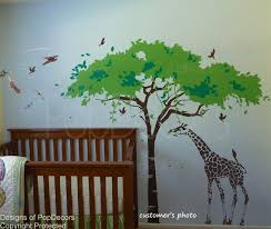 Custom For Tristan Ventle Ahlstedt Africa Tree And Etsy Baby Wall Decals Africa Trees Nursery Wall Stickers