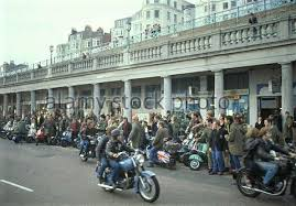 Rockers arrive at Madeira Drive the British movie Quadrophenia