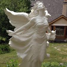 life size marble stone carved flying