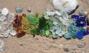 finding beach glass along lake michigan