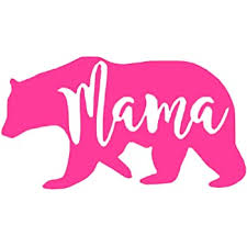 Amazon Com Mama Bear Sticker Decal Notebook Car Laptop 5 5 White Automotive