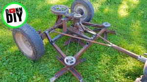 diy ground driven mower from junk