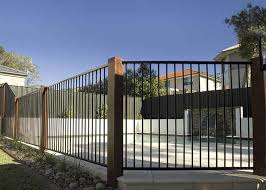Tubular Pool Fencing With Timber Posts Pool Fence Swimming Pools Backyard Fence Design