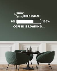 Vinyl Wall Decal Coffee House Lover Loading Funny Art Cafe Decor Break Wallstickers4you