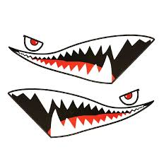 Shark Mouth Tooth Teeth Reflective Sticker Red Tongue Black Mouth Vinyl Refiting Exterior Decal Side Door Car Styling Car Styling Shark Mouthreflective Sticker Aliexpress