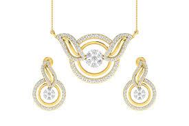 jena diamond pendant earring set