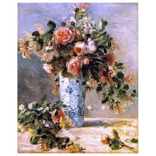 Art Megamartpierre Auguste Renoir Roses And Jasmine In A Delft Vase Wall Decal Dailymail