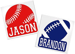 Amazon Com Yeti Baseball Football Basketball Soccer Decal Your Choice Of Color Sport Name Decals By Adavis Arts Crafts Sewing