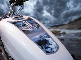 Amazon Com East Coast Vinyl Werkz Fuel Tank Fender Decals For Harley Davidson Sportsters Other Motorcycles Thor S Hammer Automotive
