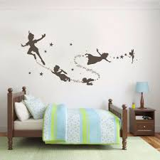 Tinkerbell Peter Pan Wall Decal Removable Kid Second Star Quote Vinyl Poom Decor 22inx58in Peter Pan Wall Decals Wall Decalspeter Pan Aliexpress