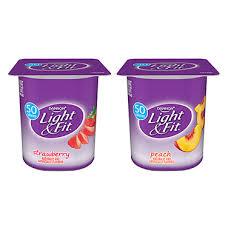 light fit yogurt strawberry peach